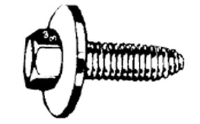 W & E Fasteners 6mm X 25mm Body Bolt Indented Hex Head With 24mm Loose Washer Ca Point, Package Of 25 - WEF-5921