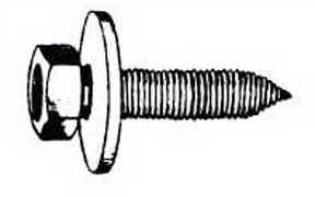 W & E Fasteners 6.3mm X 25mm Body Bolt Indented Hex Head With 16.5mm Loose Package Of 50 - WEF-5927