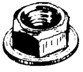W & E Fasteners 8mm Hex Flange Nut, Chrysler, GM And Universal, Package Of 25 - WEF-5931
