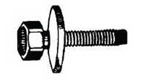 W & E Fasteners 6mm X 20mm Body Bolt Indented Hex Head With Loose Washer 10mm Hex; Package Of 25 - WEF-5940