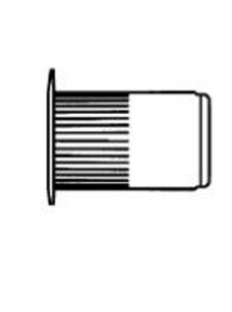 W & E Fasteners Threaded Inserts-Steel, Plated, 8mm, Package Of 10 - WEF-5943