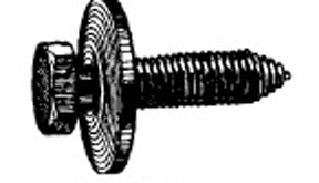 W & E Fasteners 8mm X 35mm Body Bolt Indented Hex Head With 24mm Loose Washer, Package Of 15 - WEF-5955