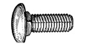 "W & E Fasteners Bumper Bolts, 3/8-16 X 1"", Round Head Stainless Steel Capped Rambler, Package Of 25 - WEF-728"