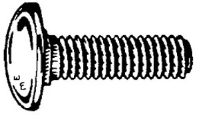 """W & E Fasteners Bumper Bolts 7/16-14 X 1"""" Pan Head Stainless Steel Capped Falcon And Comet, Package Of 30 - WEF-730"""