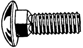 """W & E Fasteners Bumper Bolts 1/2-13 X 1-1/2"""" Round Head Stainless Steel Capped, Package Of 25 - WEF-740"""