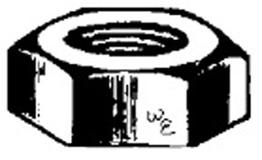 W & E Fasteners 10-24 Hex Nut-Plated, Package Of 100 - WEF-777
