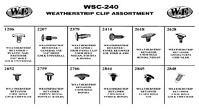 W & E Fasteners Weatherstrip Clip Assortment - WEF-WSC-240