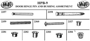 W & E Tools Door Hinge Pin and Bushing Assortment - WET-HPB9