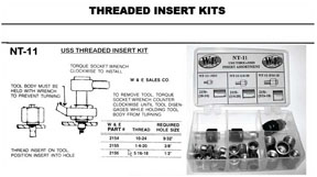 W & E Tools USS Threaded Insert Kit WET-NT11