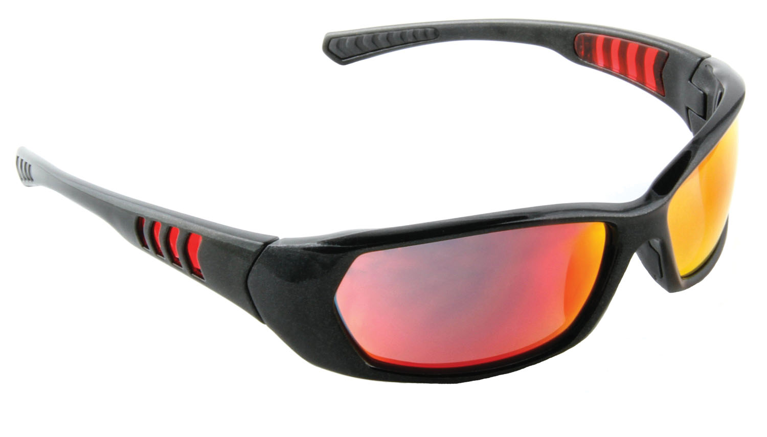 3M Company Black Frame Red Mirror AS Safety Sunwear Lens