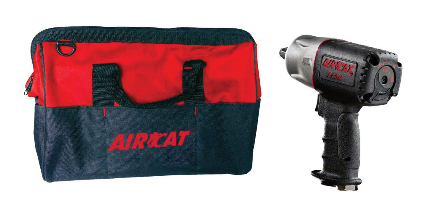 "AIRCAT 1/2"" Drive Composite Air Impact Wrench W/ FREE Tool Bag"