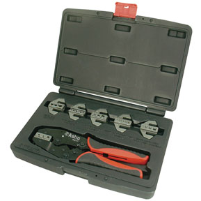 Astro Pneumatic 7pc. Professional Quick Change Ratcheting Crimping Tool Set
