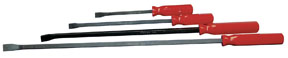 ATD Tools Curved Pry Bar Set with Comfort Grip Handles, 4pc.