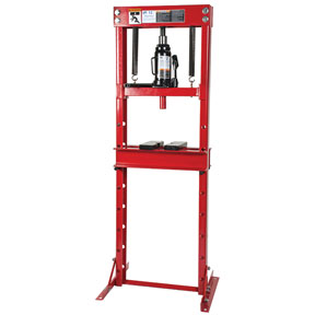 ATD Tools 12-Ton Hydraulic Shop Press with Bottle Jack