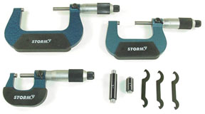 "Central Tools 3 pc. Conventional ""Swiss Style"" Micrometer Set"