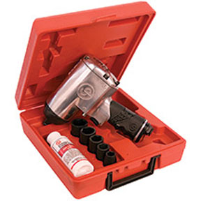 """Chicago Pneumatic 1/2"""" Impact Wrench High Torq w/ Sockets & Case"""