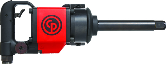 """Chicago Pneumatic 1"""" D-Handle Impact Wrench with 6"""" Extended Anvil"""