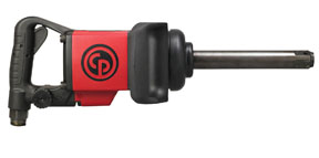 """Chicago Pneumatic 1"""" Lightweight Straight Impact Wrench with 6"""" Extended Anvil"""