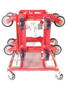 Djs Fabrications Mobile Dolly Station Rack with Four Dollies