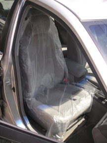 Hi-Tech Industries Plastic Seat Cover, .5 mil, 500/roll