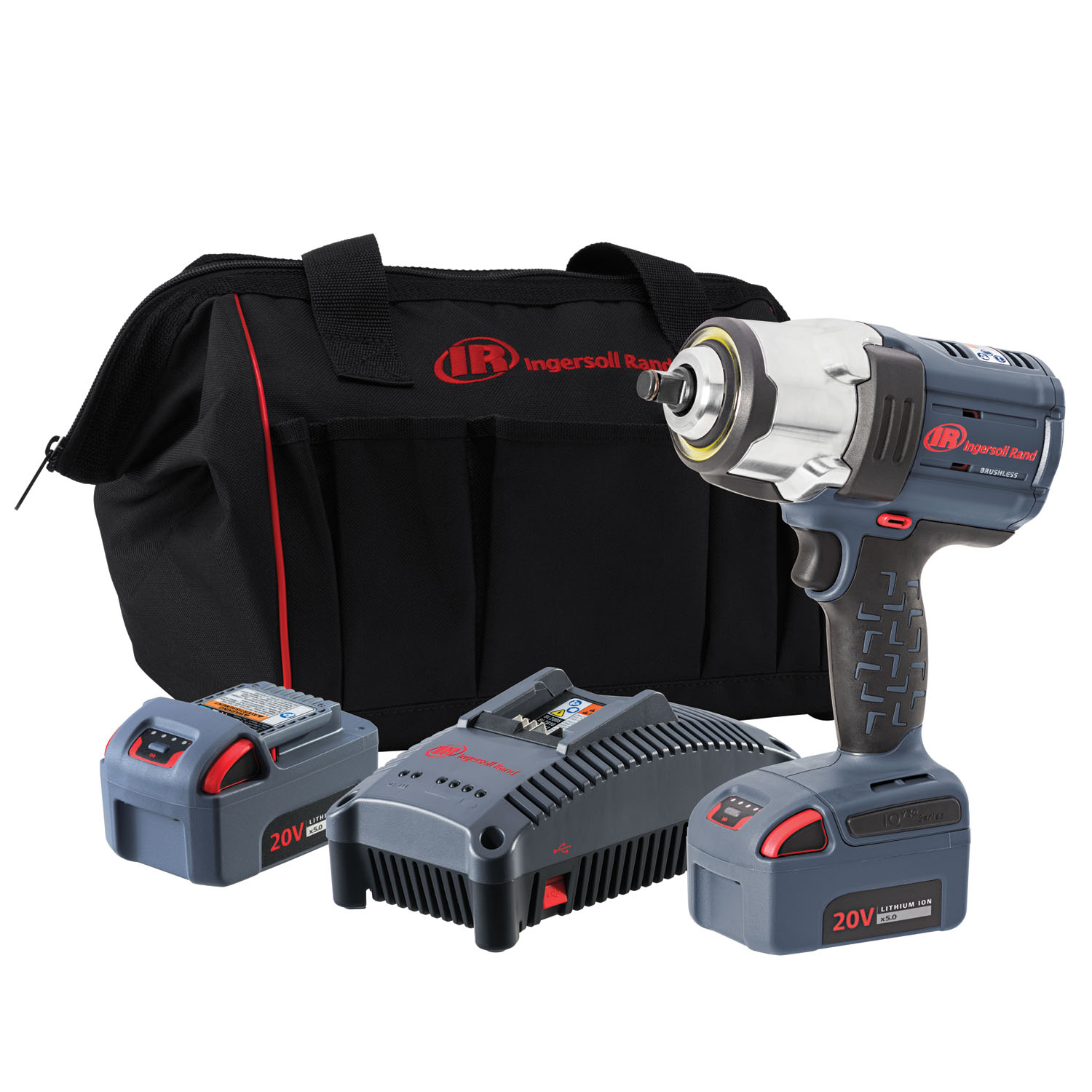 "Ingersoll Rand ½"" IQV20 Impact Wrench, 2 Battery Kit"
