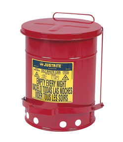 Justrite 6-Gallon Oily Waste Can for General Use