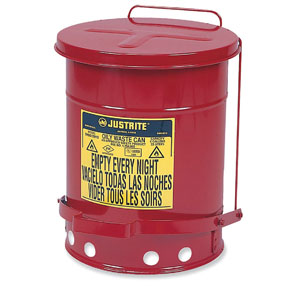 Justrite 14 Gal Oily Waste Can
