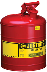 """Justrite Type I Safety Can 9 3/8""""(O.D.) x 12 5/8""""(H)"""