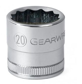 "GearWrench ½"" Dr. 12 Pt. Std. Metric Socket, 18mm"