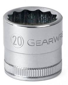 "GearWrench ½"" Dr. 12 Pt. Std. Metric Socket, 21mm"