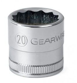"GearWrench ½"" Dr. 12 Pt. Std. Metric Socket, 24mm"