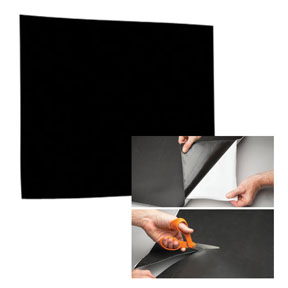 "RBL Products, Inc. Self-Adhering, 12"" x 12"" Black/Paintable Sound Damping Pad"