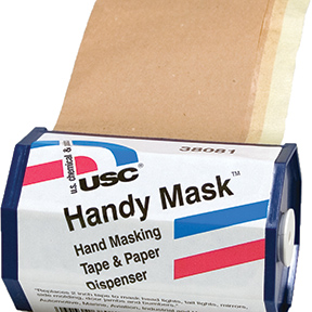 U. S. Chemical & Plastics Handy Mask Tape & Paper with Dispenser 12/Display Box